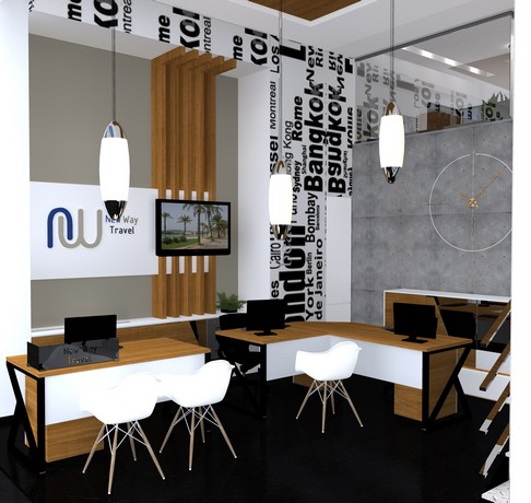 Biro proekt designing and marketing for Interior design travel agency office