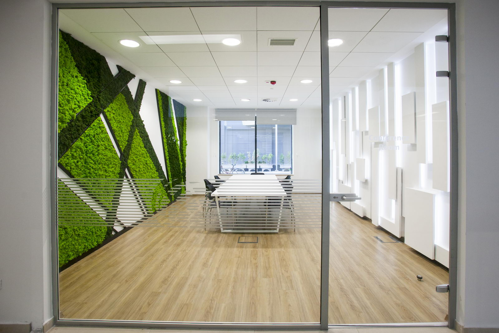 Interior design of meeting rooms, bank offices in Skopje