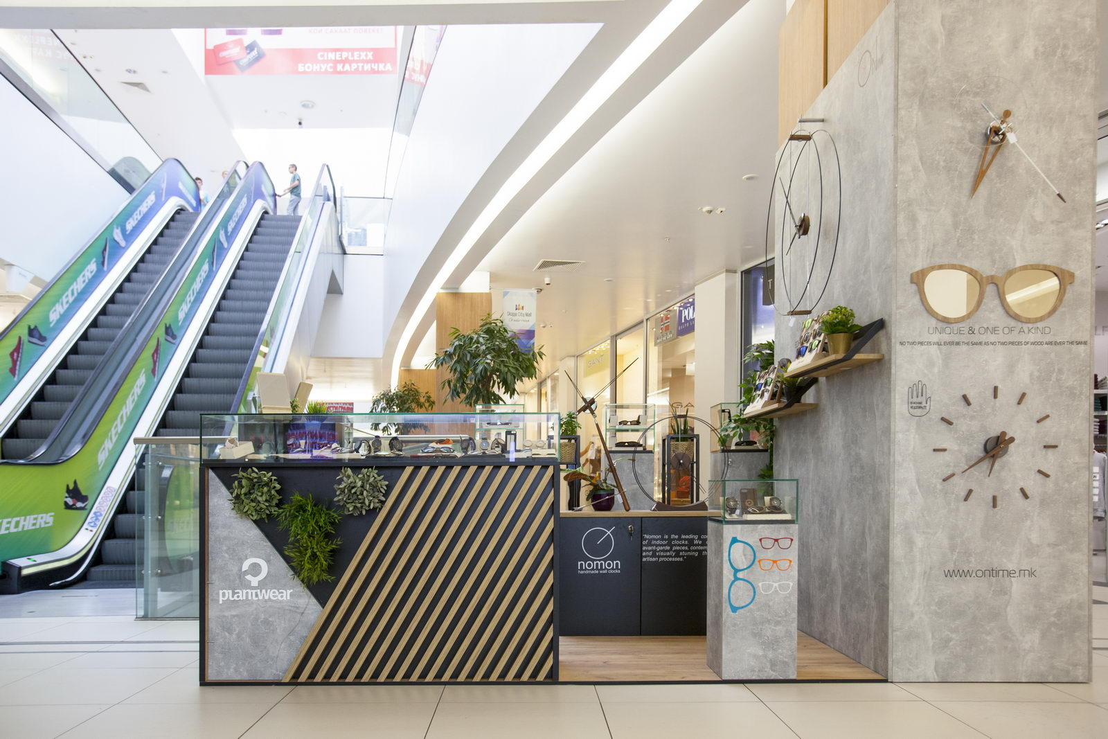 Design of sales point, On Time, City Mall, Skopje
