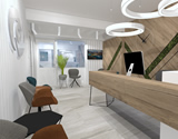 Interior design of office and reception area for patients, Ophthalmology Laser Center - Dr. Ristovski, Skopje